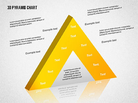Layered 3D Pyramid, Slide 6, 02203, Business Models — PoweredTemplate.com