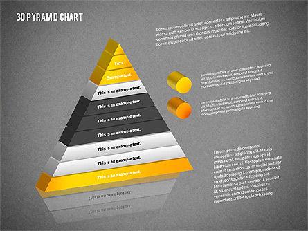 Layered 3D Pyramid, Slide 9, 02203, Business Models — PoweredTemplate.com