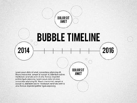 Timelines & Calendars: Bubble linea temporale #02205