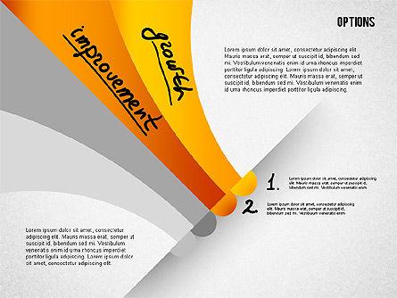 Four Step Tilted Options Banner, Slide 2, 02206, Stage Diagrams — PoweredTemplate.com