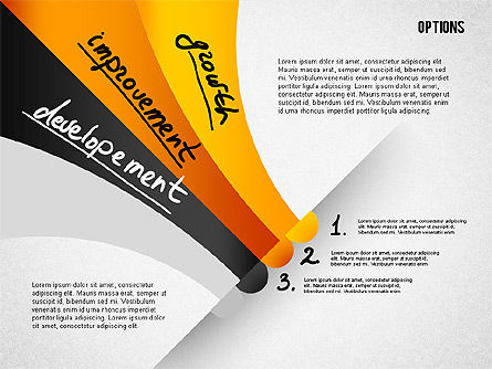 Four Step Tilted Options Banner, Slide 3, 02206, Stage Diagrams — PoweredTemplate.com