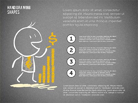 Financial Doodles, Slide 10, 02207, Shapes — PoweredTemplate.com