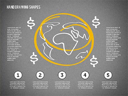Financial Doodles, Slide 11, 02207, Shapes — PoweredTemplate.com