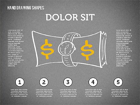 Financial Doodles, Slide 16, 02207, Shapes — PoweredTemplate.com