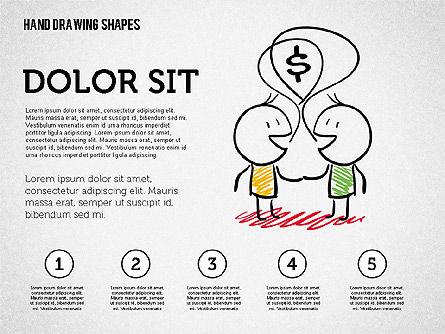Financial Doodles, Slide 6, 02207, Shapes — PoweredTemplate.com