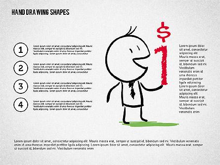 Financial Doodles, Slide 7, 02207, Shapes — PoweredTemplate.com