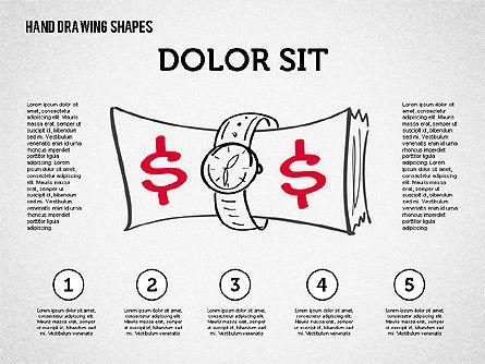 Financial Doodles, Slide 8, 02207, Shapes — PoweredTemplate.com
