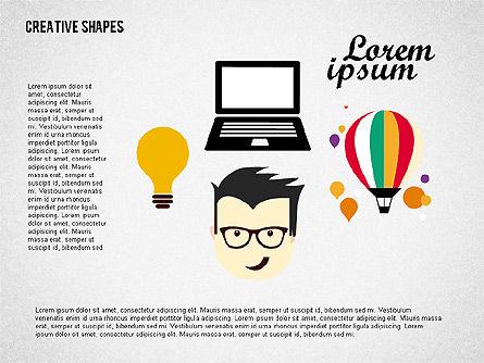 Presentation with Creative Shapes, Slide 3, 02212, Presentation Templates — PoweredTemplate.com
