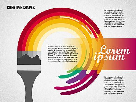 Presentation with Creative Shapes, Slide 4, 02212, Presentation Templates — PoweredTemplate.com
