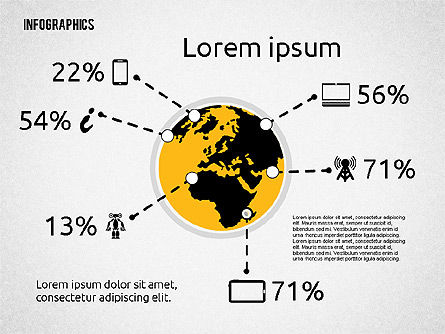 Infographics: Global Communication Infographics #02215
