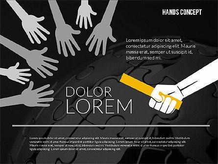 Hands Shapes Set, Slide 12, 02217, Shapes — PoweredTemplate.com
