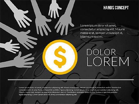 Hands Shapes Set, Slide 15, 02217, Shapes — PoweredTemplate.com