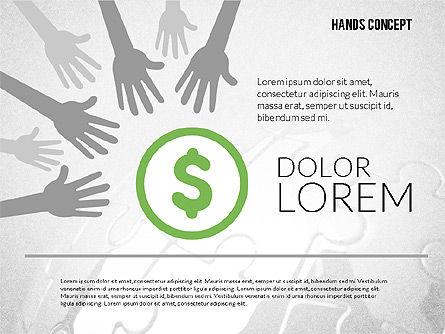 Hands Shapes Set, Slide 7, 02217, Shapes — PoweredTemplate.com
