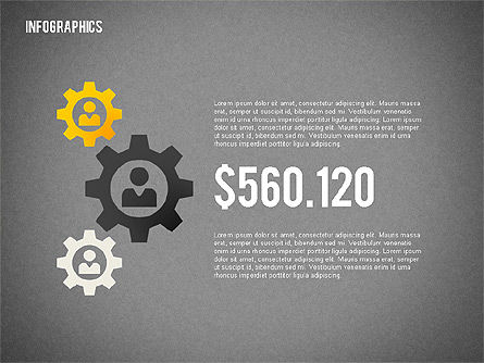Flat Design Infographic with Icons, Slide 12, 02218, Infographics — PoweredTemplate.com
