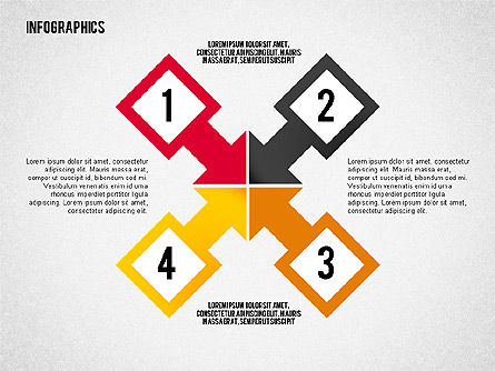 Flat Design Infographic with Icons, Slide 8, 02218, Infographics — PoweredTemplate.com