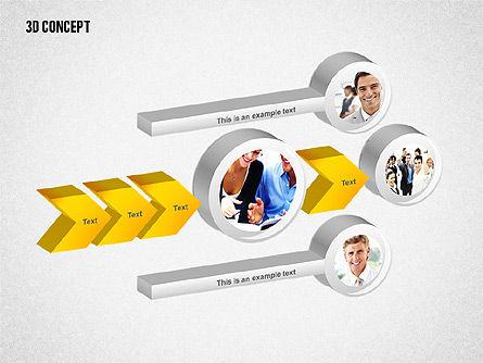3D Diagram Concept, Slide 2, 02219, Business Models — PoweredTemplate.com