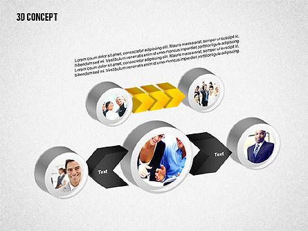 3D Diagram Concept, Slide 3, 02219, Business Models — PoweredTemplate.com