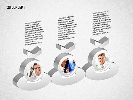 3D Diagram Concept, Slide 4, 02219, Business Models — PoweredTemplate.com