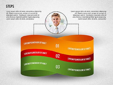 Mobius Strip Like Steps with Photos, Slide 3, 02221, Stage Diagrams — PoweredTemplate.com