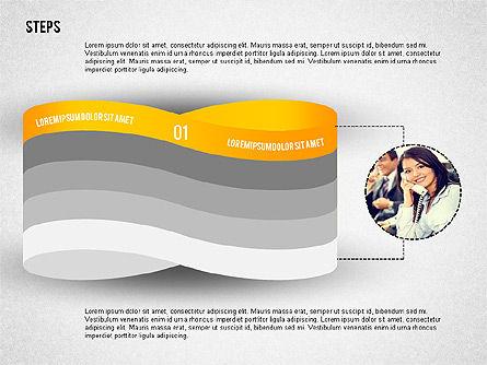 Mobius Strip Like Steps with Photos, Slide 4, 02221, Stage Diagrams — PoweredTemplate.com