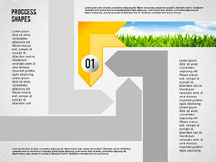 Process Shapes with Photos, 02223, Process Diagrams — PoweredTemplate.com