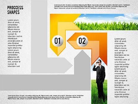 Process Shapes with Photos, Slide 2, 02223, Process Diagrams — PoweredTemplate.com