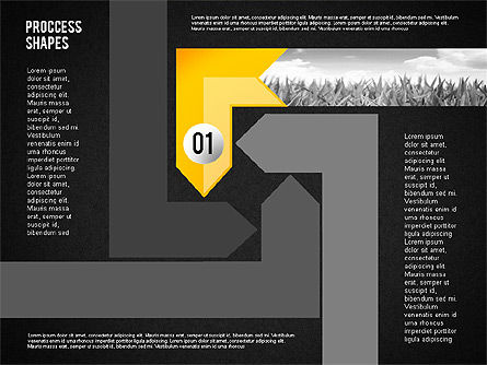 Process Shapes with Photos, Slide 9, 02223, Process Diagrams — PoweredTemplate.com