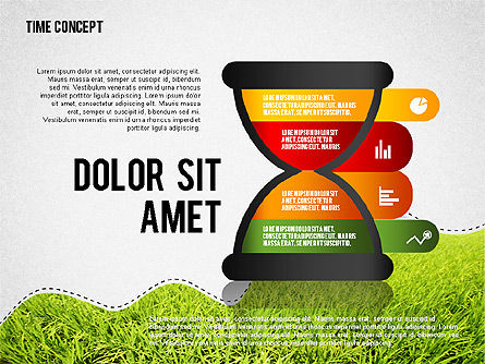 Time Concept Presentation Template, 02225, Presentation Templates — PoweredTemplate.com