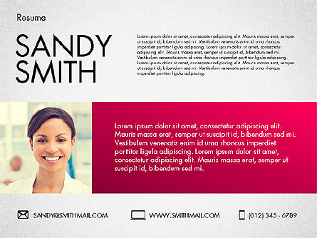 Presentation Templates: Template Resume Modern #02226