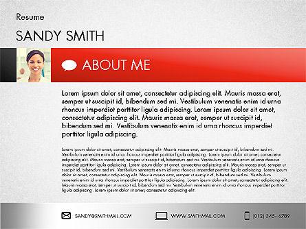 Modern Resume Template, Slide 2, 02226, Presentation Templates — PoweredTemplate.com