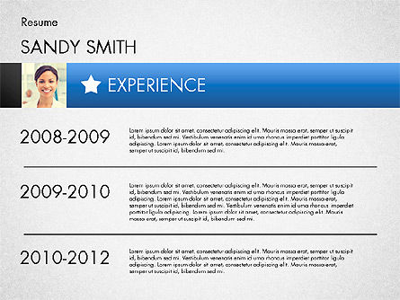modern resume template slide 4