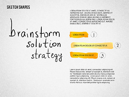 Sketch Style Diagrams and Shapes, Slide 3, 02227, Business Models — PoweredTemplate.com