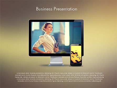 Modern Business Presentation Template, 02228, Presentation Templates — PoweredTemplate.com
