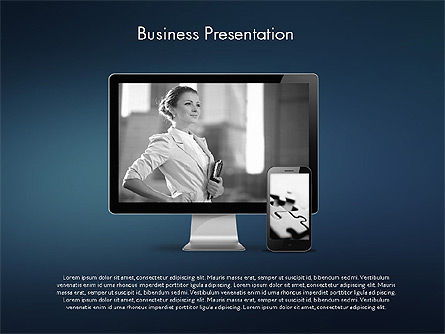 Modern Business Presentation Template, Slide 9, 02228, Presentation Templates — PoweredTemplate.com