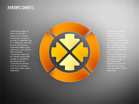 Intersecting Arrows in Flat Design, Slide 13, 02230, Shapes — PoweredTemplate.com