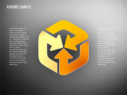Intersecting Arrows in Flat Design, Slide 14, 02230, Shapes — PoweredTemplate.com
