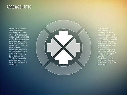 Intersecting Arrows in Flat Design, Slide 5, 02230, Shapes — PoweredTemplate.com
