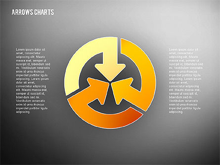 Intersecting Arrows in Flat Design, Slide 9, 02230, Shapes — PoweredTemplate.com