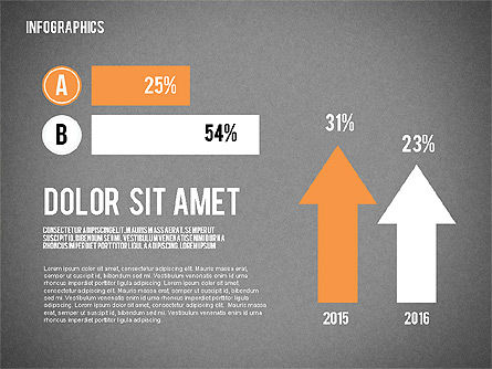 Report with Infographics, Slide 13, 02231, Infographics — PoweredTemplate.com