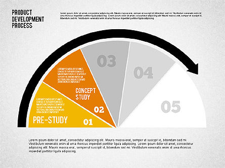 Product Development Process with Gauge, Slide 5, 02233, Business Models — PoweredTemplate.com