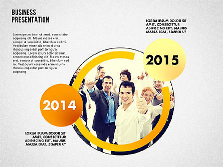 Business Project Presentation Template, Slide 2, 02235, Presentation Templates — PoweredTemplate.com