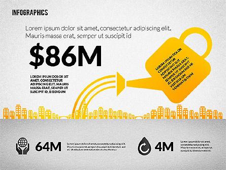 Water Consumption Infographics, Slide 4, 02236, Infographics — PoweredTemplate.com
