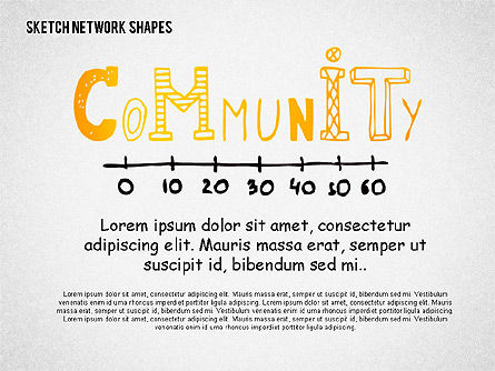 Community and Networking Shapes, 02238, Shapes — PoweredTemplate.com