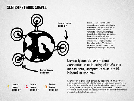 Community and Networking Shapes, Slide 2, 02238, Shapes — PoweredTemplate.com