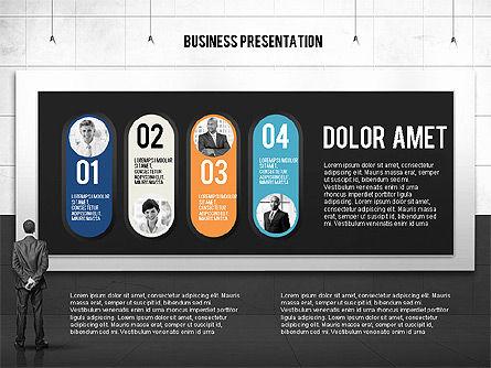 Vintage Style Business Presentation Template, Slide 13, 02241, Presentation Templates — PoweredTemplate.com