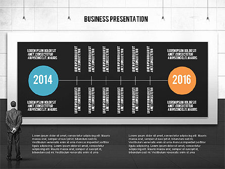 Vintage Style Business Presentation Template, Slide 14, 02241, Presentation Templates — PoweredTemplate.com