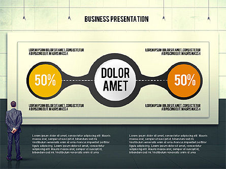 Vintage Style Business Presentation Template, Slide 3, 02241, Presentation Templates — PoweredTemplate.com