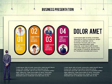 Vintage Style Business Presentation Template, Slide 5, 02241, Presentation Templates — PoweredTemplate.com