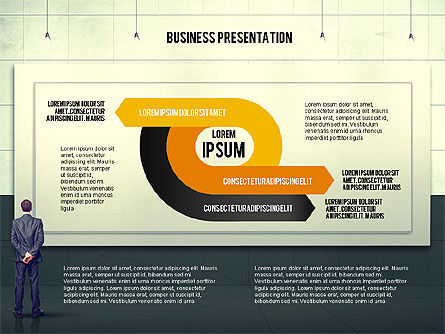 Vintage Style Business Presentation Template, Slide 8, 02241, Presentation Templates — PoweredTemplate.com