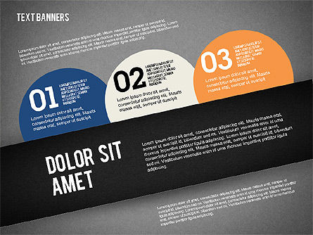 Text Banners, Slide 11, 02242, Text Boxes — PoweredTemplate.com